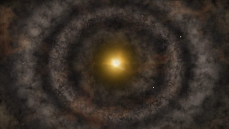 Artist's impression of a protoplanetary disk
