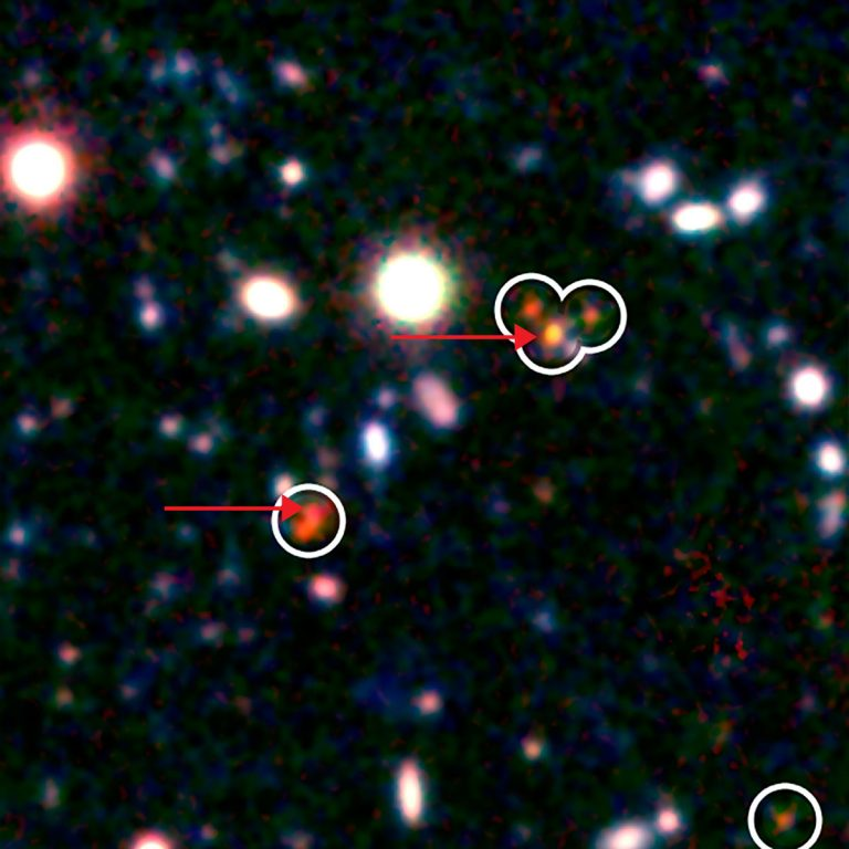 Combined data from Japan's Subaru telescope and ALMA of the AzTEC-3 region
