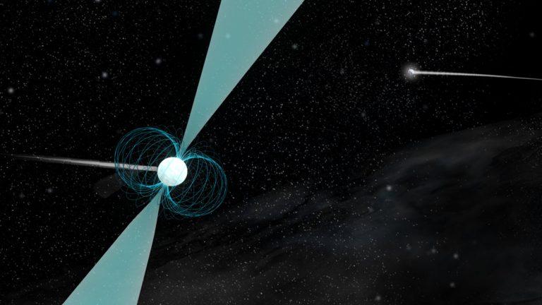 Artist's impression of pulsar PSR J1930-1852