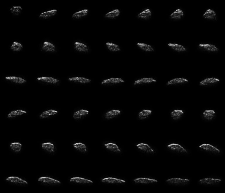 Collage of radar images of asteroid 2015 HM10