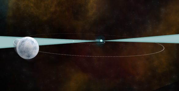 Artist's conception of a pulsar and white dwarf
