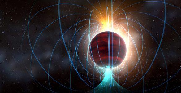 Artist impression of red dwarf star TVLM 513-46546.