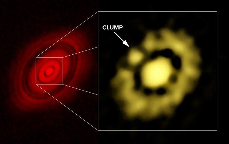 ALMA and VLA images of HL Tau.