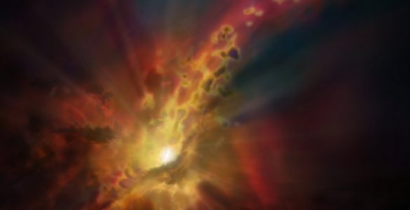 Black Hole Deluged by Cold Intergalactic 'Rain'