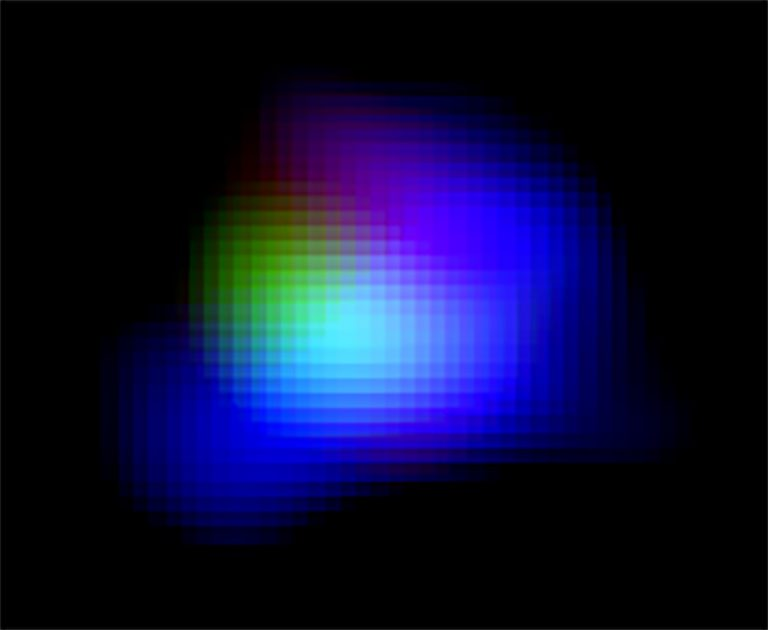 Color composite image of distant galaxy SXDF-NB1006-2