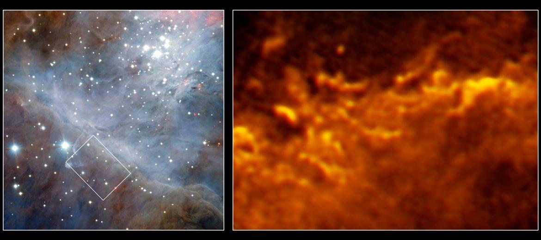 VLT/ALMA image of Orion nebula