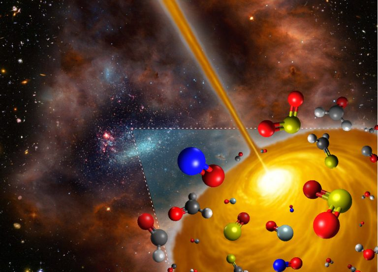 Artist's concept image of the hot molecular core discovered in the Large Magellanic Cloud