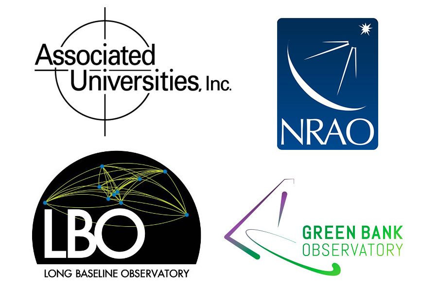 Logos for AUI, NRAO, LBO, and GBO