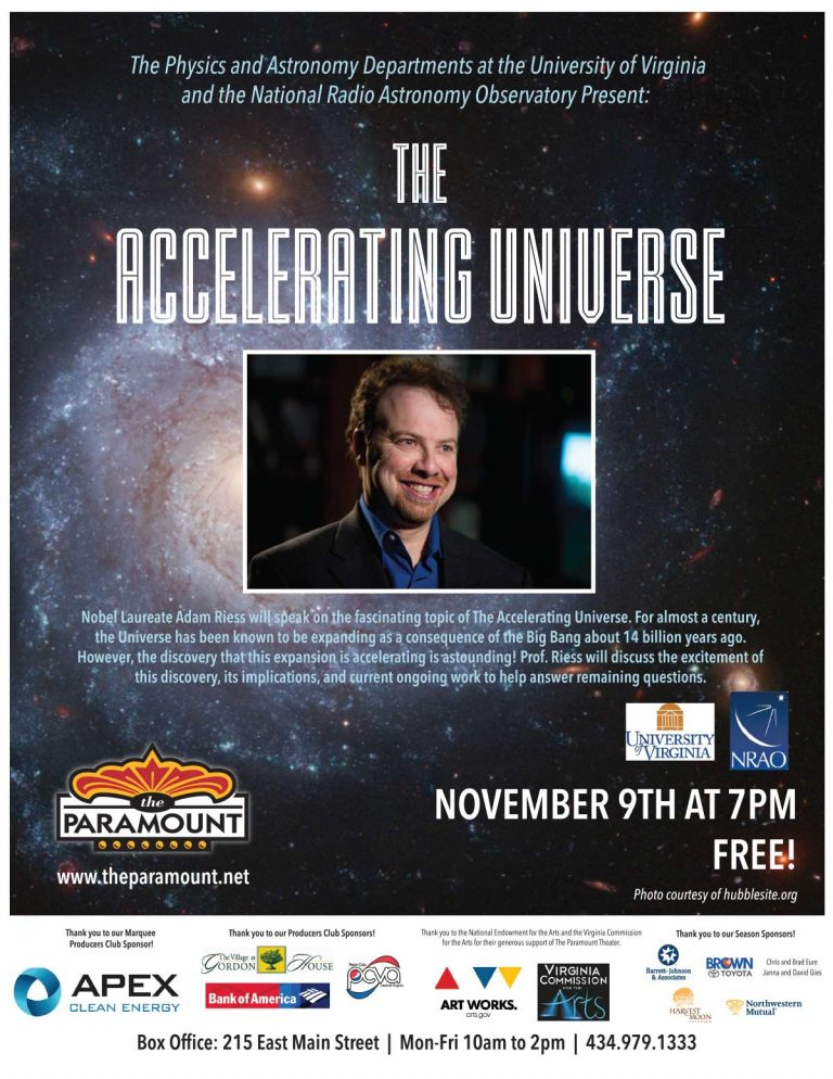 Poster for The Accelerating Universe talks