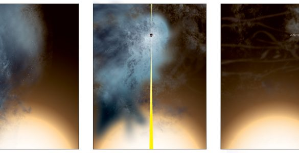 """Close Galactic Encounter Leaves """"Nearly Naked"""" Supermassive Black Hole"""