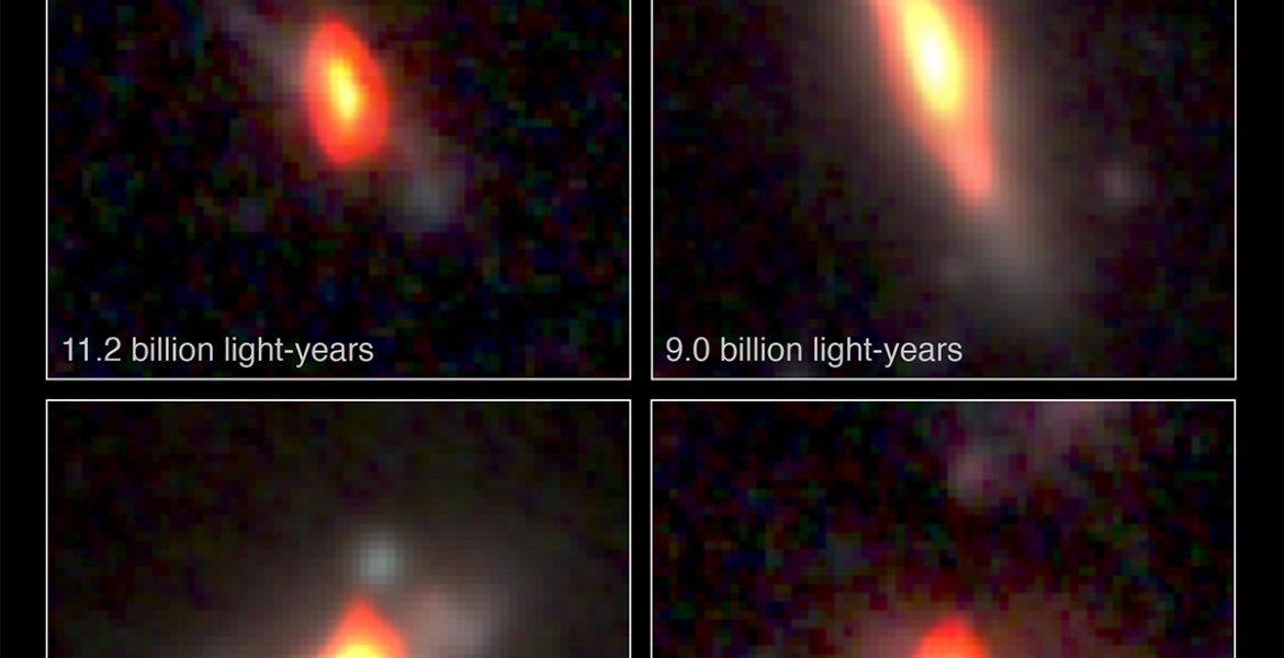 Distant galaxies seen with VLA and HST