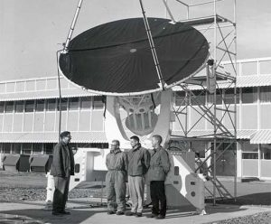 The 12-foot telescope in Green Bank was a gold-coated millimeter-wave detecting telescope in Green Bank.