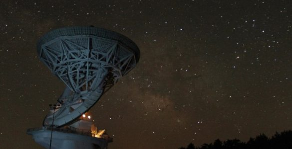 Night Sky Over the 140-foot Telescope