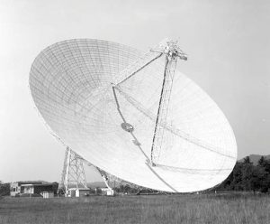The 300-foot telescope in Green Bank, West Virginia was the largest telescope on Earth when it came online in 1962.