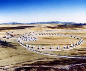 Drawn in 1989, this was the proposed design for our Millimeter Array.