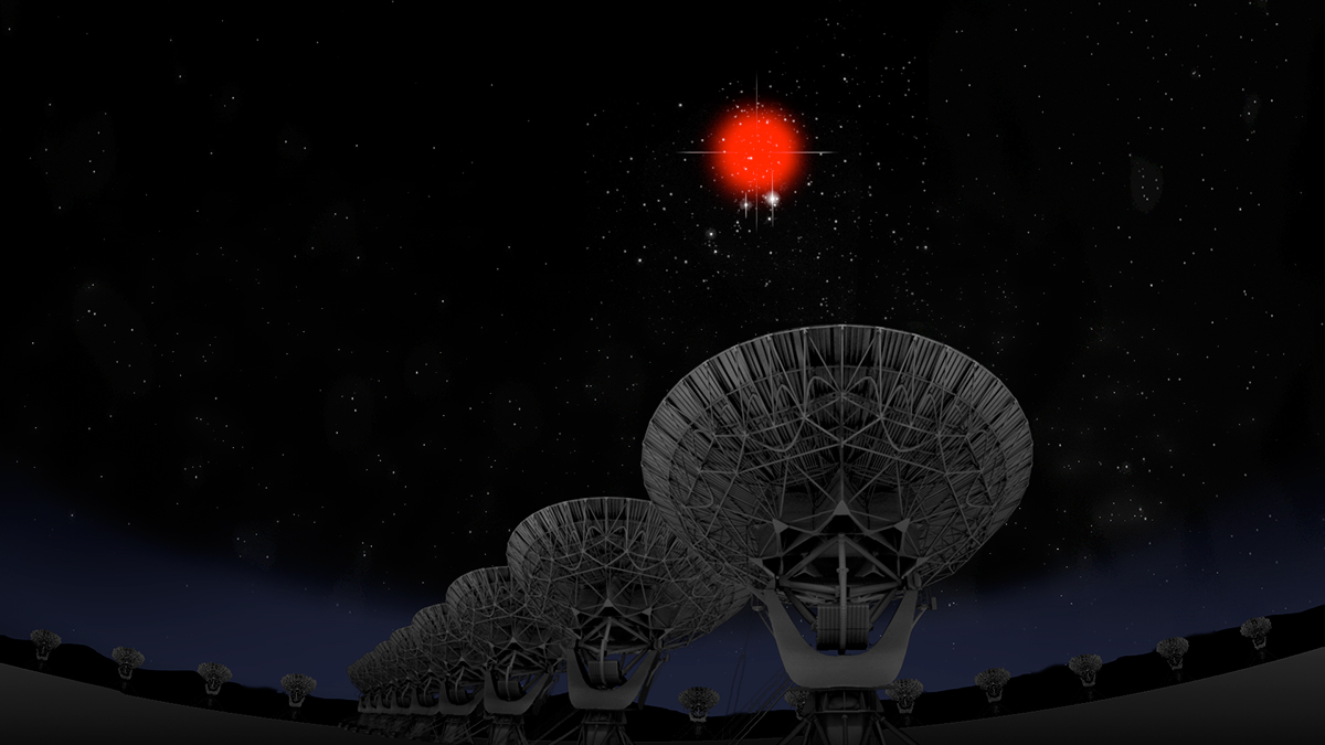 Artist impression of VLA and FRB
