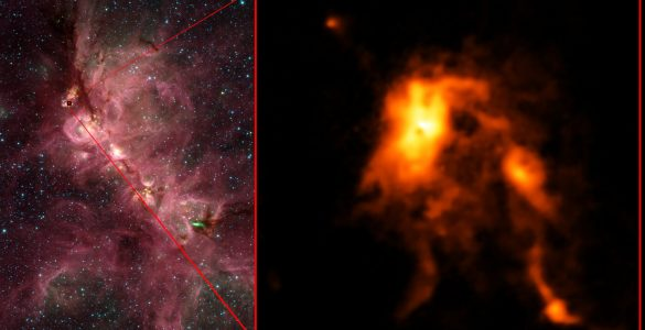 Protostar Blazes Bright, Reshaping Its Stellar Nursery