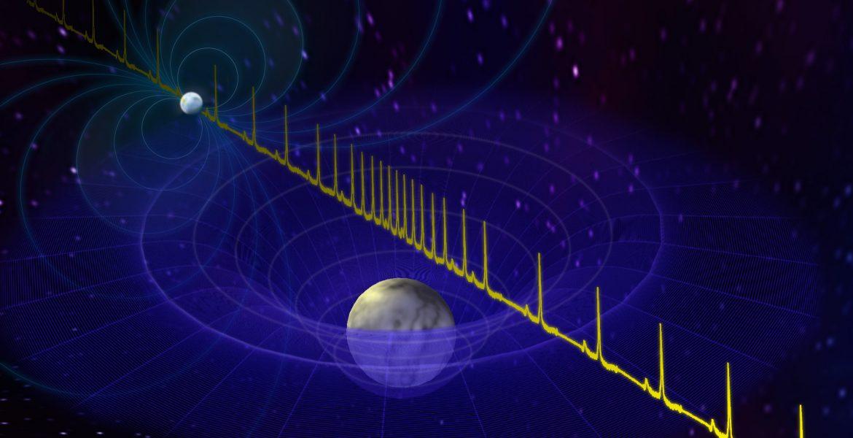 Artist's impression of white dwarf and pulsar