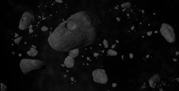 Animation of an Asteroid Field