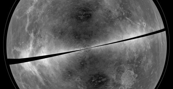 Radar image of Venus