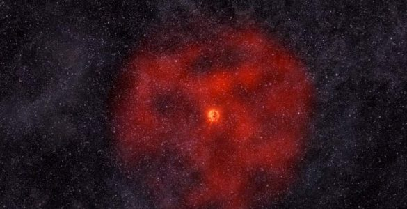 Animation of Red Giant Star Shedding Outer Layers