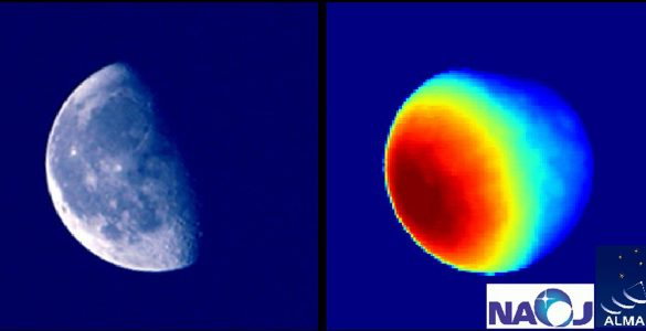 Moon as seen by ALMA