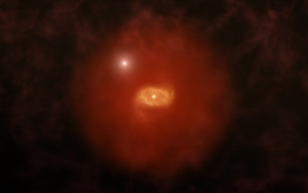 Artist's impression of distant Milky Way-like galaxy