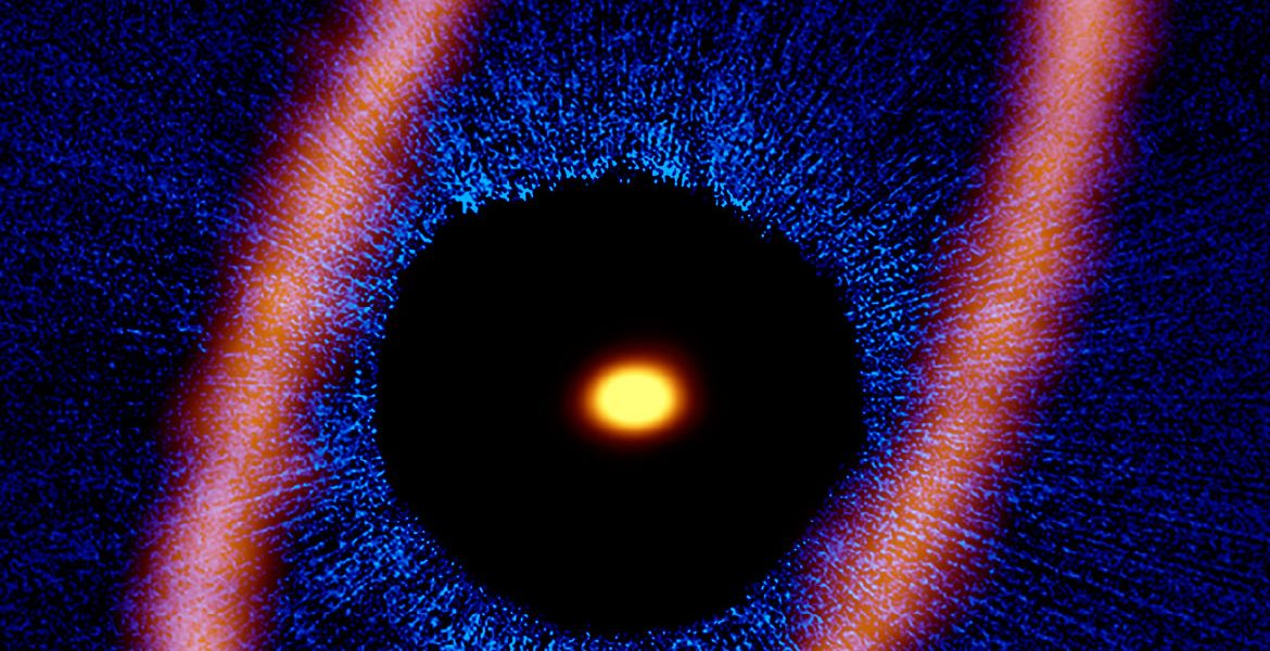 Composite image of the Fomalhaut star system.