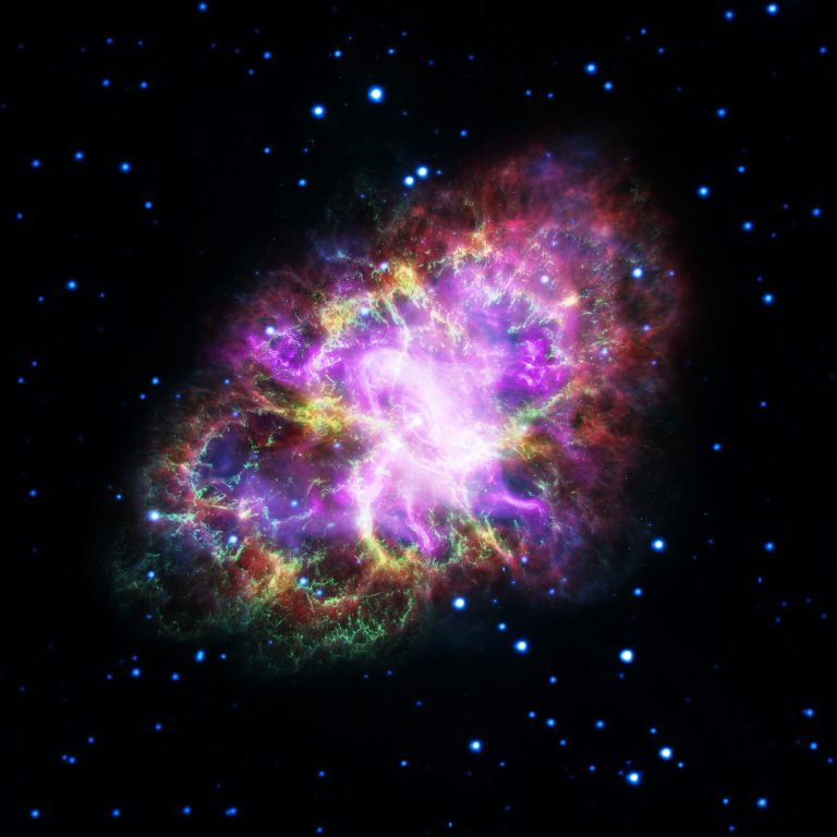 Multiwavelength image of the Crab Nebula.
