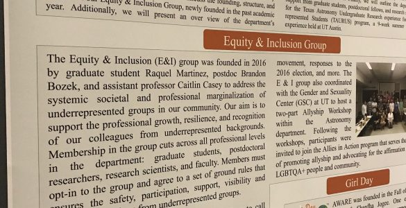 Poster Session: Equity & Inclusivity in the Workplace