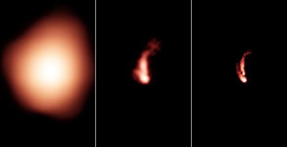 Comparison of NVSS, FIRST, and VLASS images.
