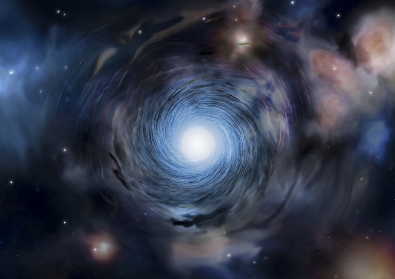 Artist impression of a rotating galaxy