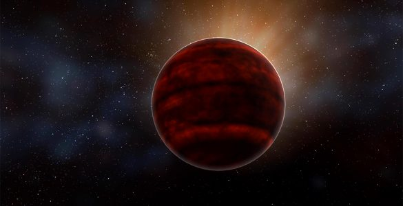 Artist impression of a red dwarf star