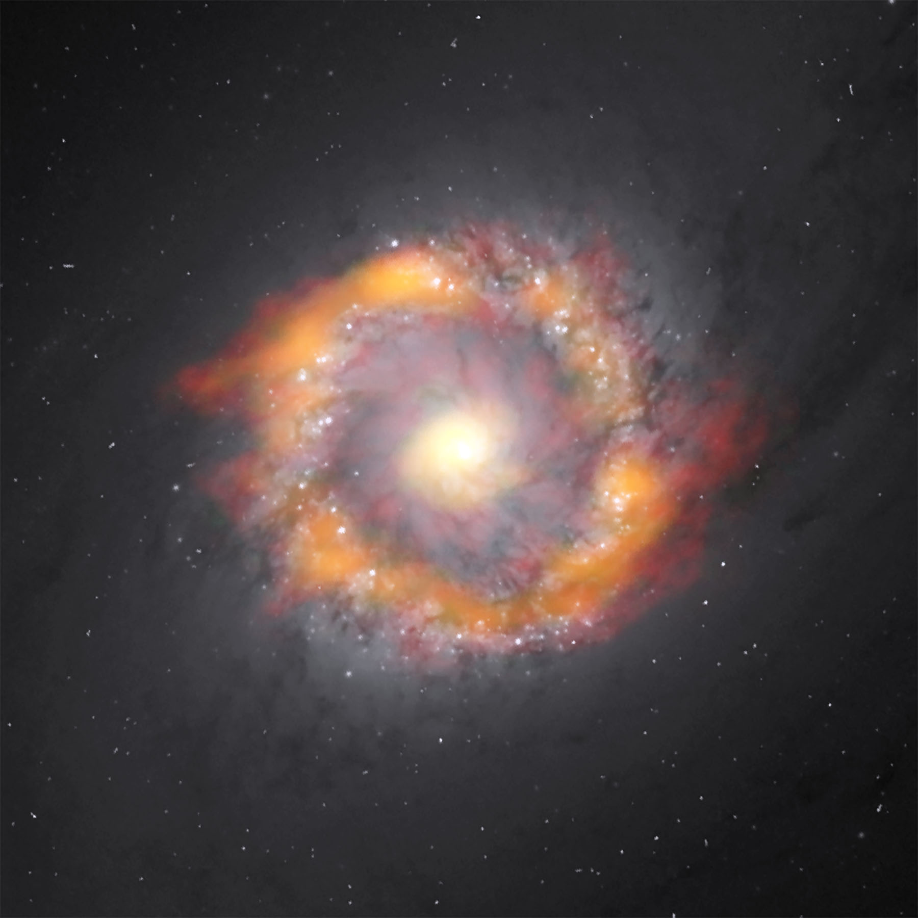 Barred spiral galaxy NGC 1097