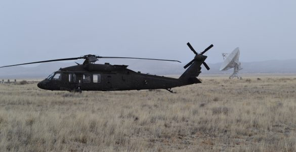 UH-60 Blackhawk Helicopters land at the Very Large Array