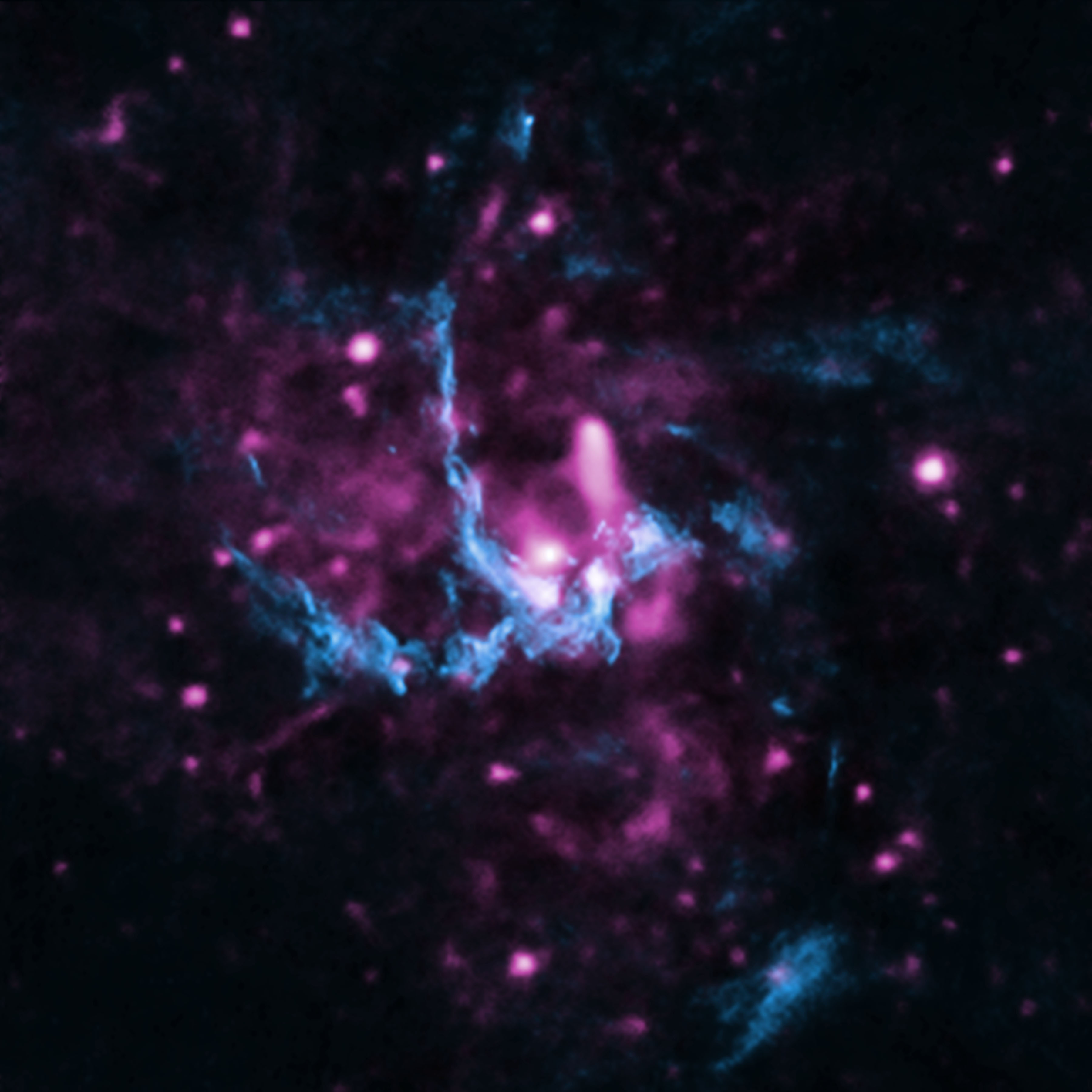 The supermassive black hole at the center of the Milky Way.
