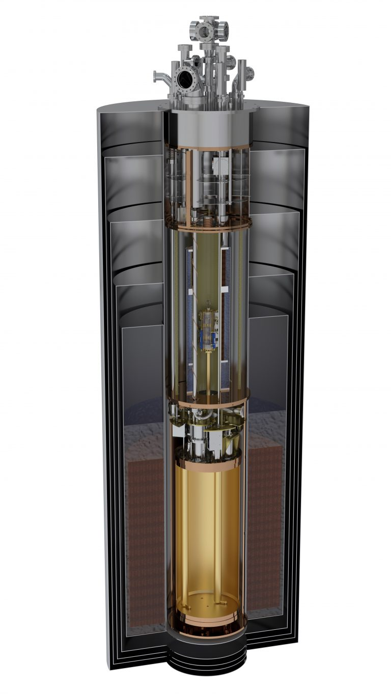 Cutaway rendering of the ADMX detector