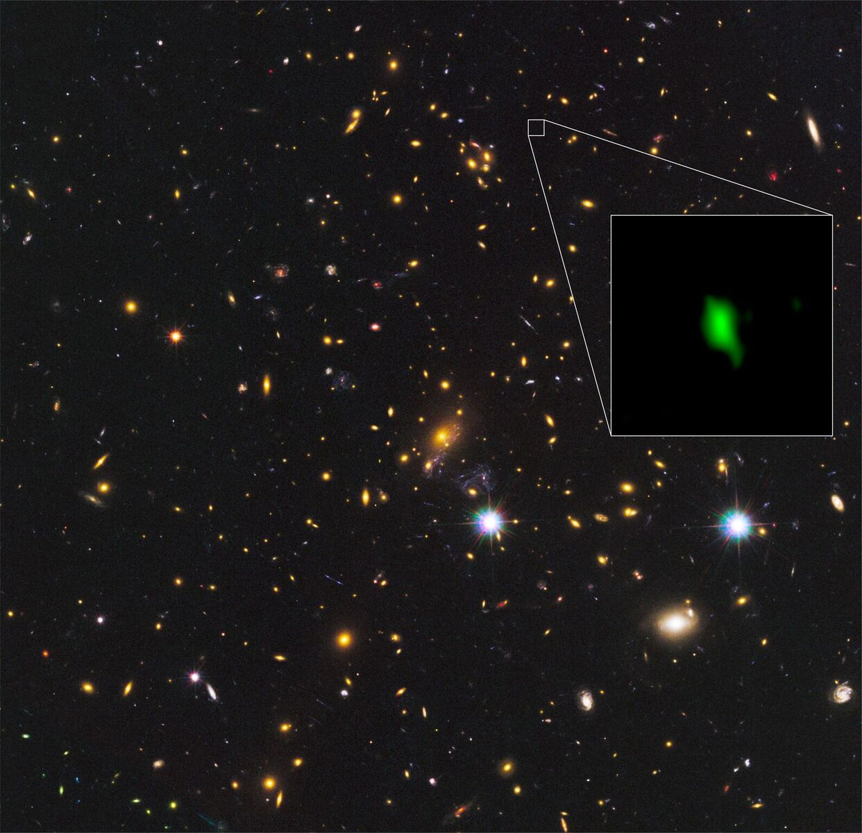 ALMA Finds Most-Distant Oxygen in the Universe