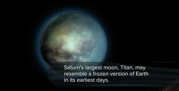 Artist's impression of Titan