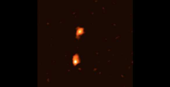 Merging galaxies in the early universe captured with ALMA.