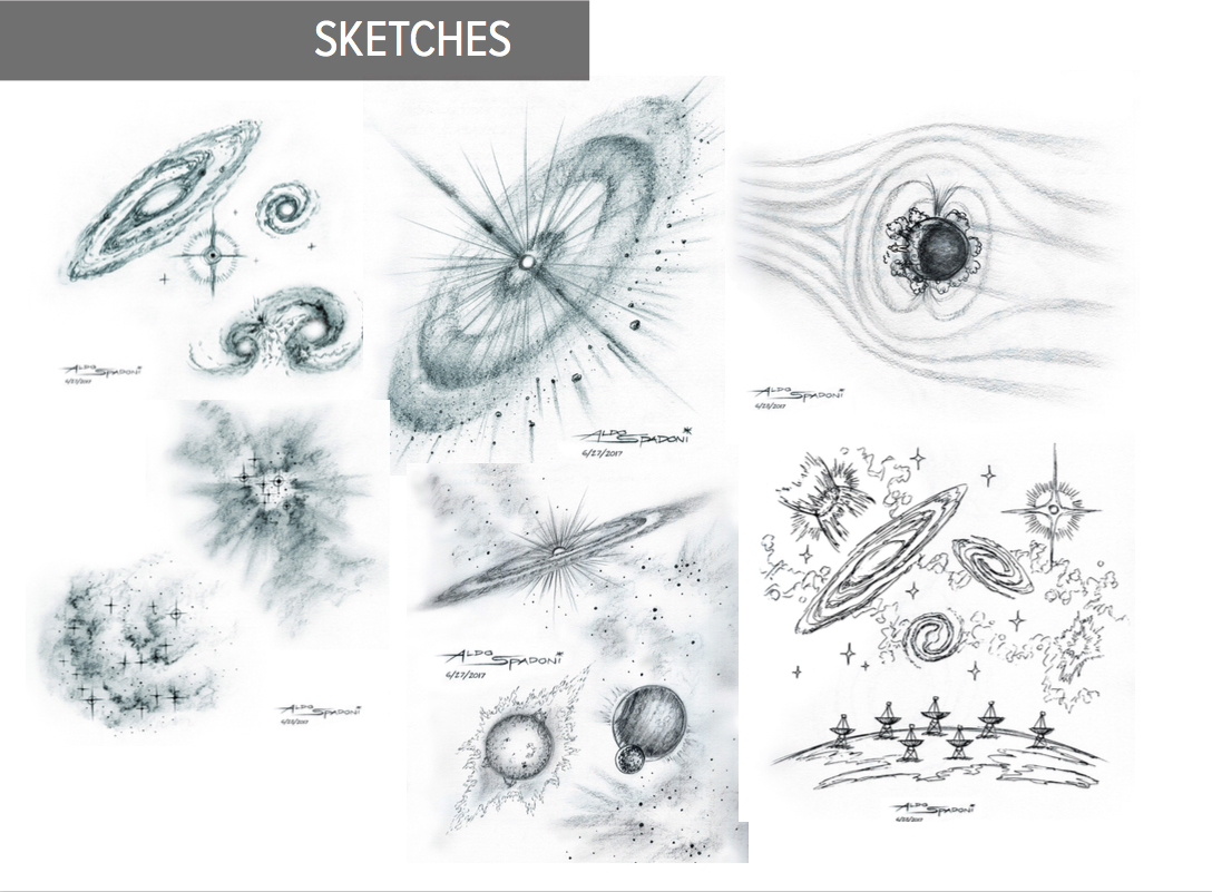 ngVLA Artist Impressions: Cradle of Life Sketches