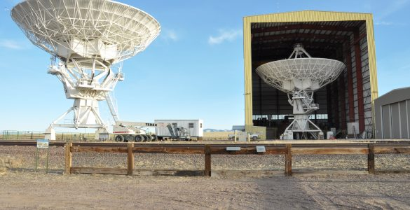VLA Antennas and The Barn