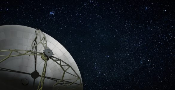 North American ALMA Antenna and Stars