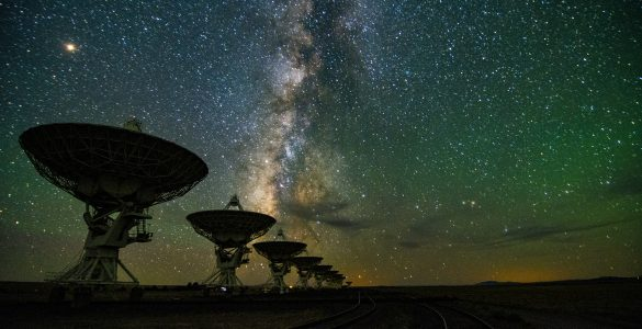 The VLA at night
