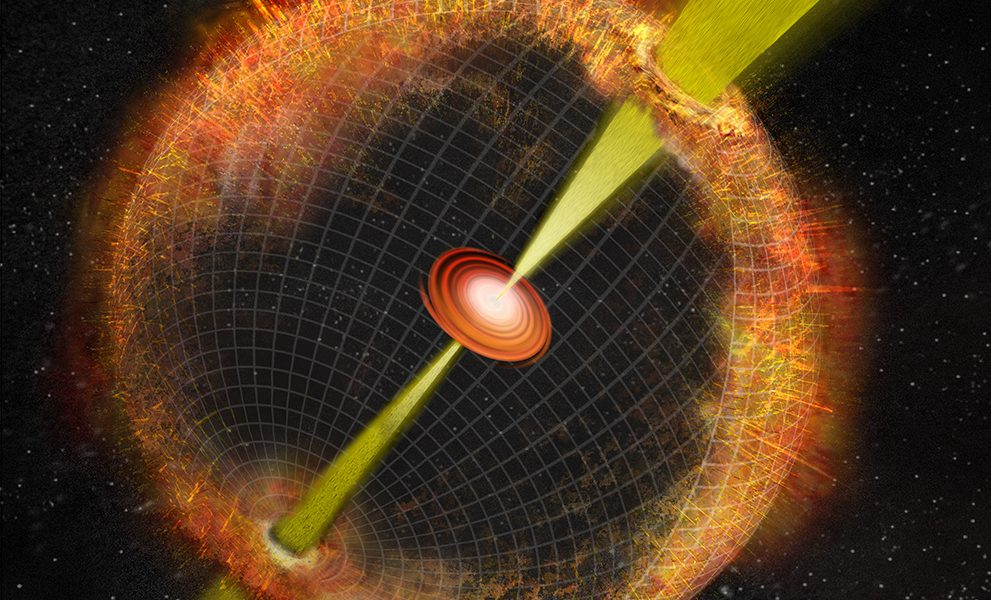 Artist's conception of a gamma ray burst