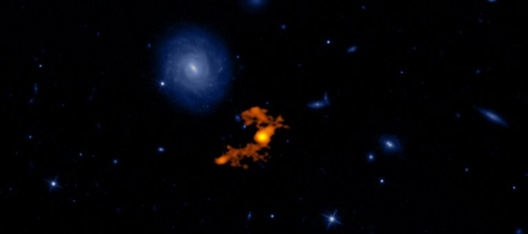 Composite image of W2246-0526 and its three companion galaxies