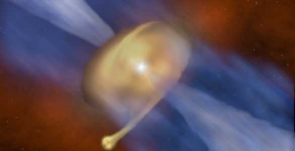 Fragmenting Disk Gives Birth to Binary Star 'Odd Couple'