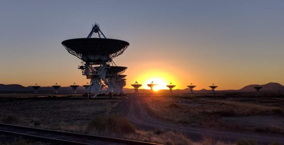 Sunrise at the VLA
