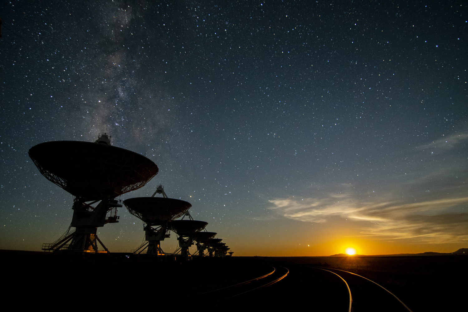 VLA at night