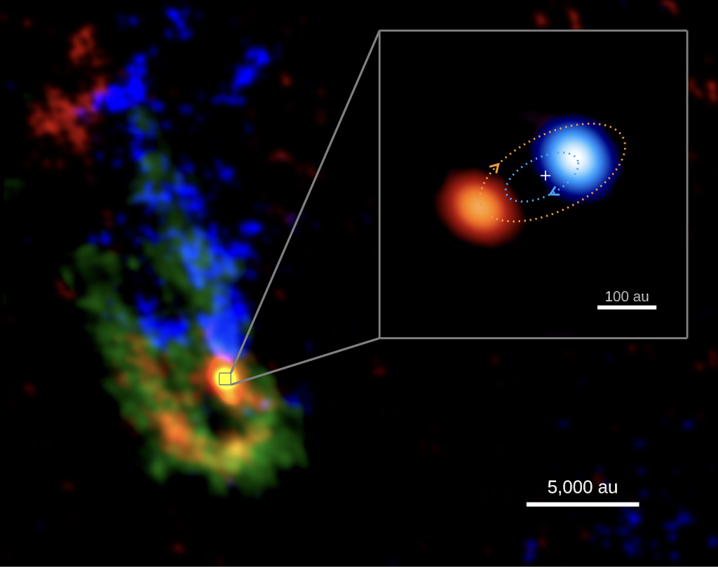 ALMA Image of Young, Massive Binary Star System
